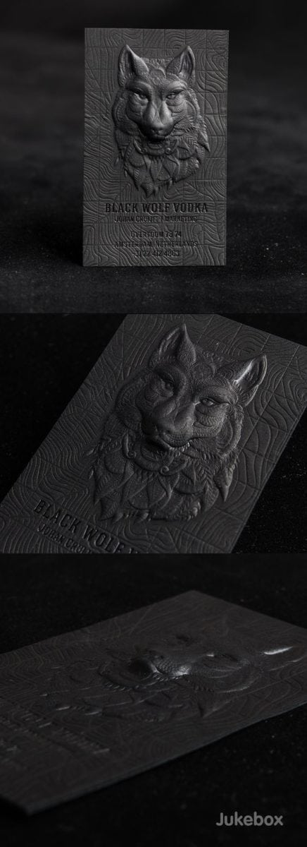 25 impressive metal business cards for inspiration metal business cards inspiration 1 wolf 3d embossed reheart Image collections