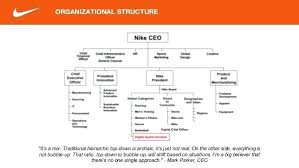 Nike S Organizational Structure Pros Amp Cons