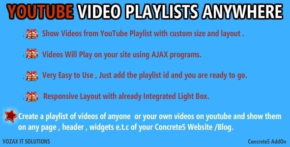 youtube-playlists-anywhere-concrete5-addon